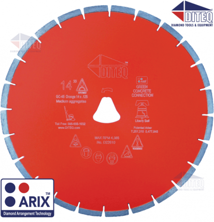 GC-45AX Orange Arix Liberty Bell Blades 10mm