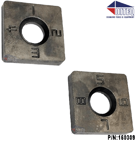 Carbide Replacement Chip 8 sided Coating striper