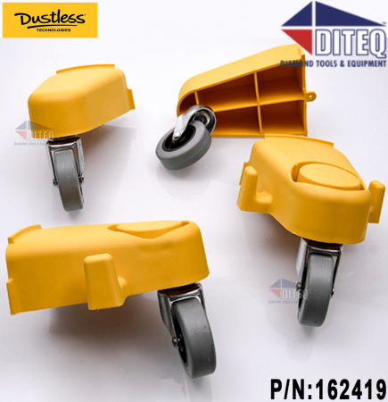Dustless Wet/Dry 16 Gal Vacuums Set of Leg and Casters
