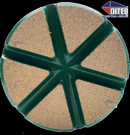 "3"" TEQ-Lok Transitional Ceramic 50 Grit-Green"