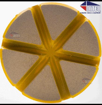 "3"" TEQ-Lok Transitional Ceramic 400 Grit-Yellow"