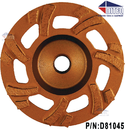 "4"" Turbo HD Grinding Wheels 5/8-11 7 Seg"