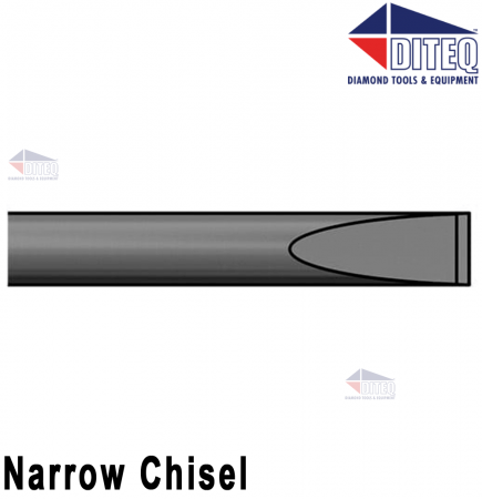 "Narrow Chisel 18"" .580"" Hex Shank Round Collar"