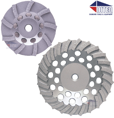 DITEQ™ CST-13 Segmented Turbo Cup Wheels, wet/dry use, fast