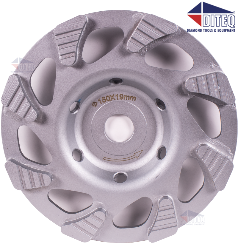 6 Quot Turbo Low Profile Wheels For Hilti Dg150 Diamond Cup