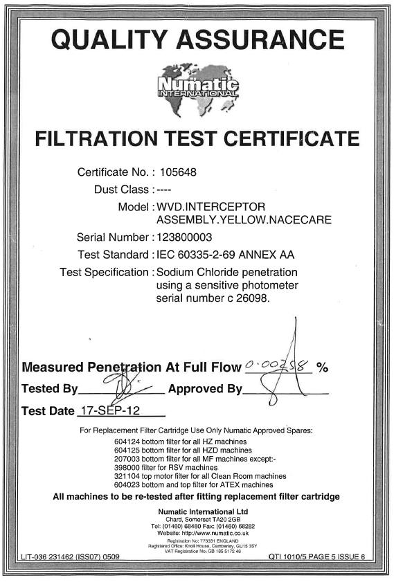 Nacecare™ HEPA Replacement Filter   604125