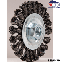 "4-1/2"" x 1/2"" Twist Knot Wire Wheel 5/8""-11"