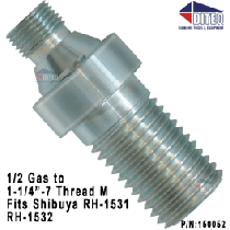 "1/2 Gas To 1-1/4""-7 Thread hand held core drill bit Adapters"