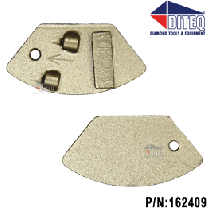 NCE PCD Qtr Round with Wear Bar [Right Hand]