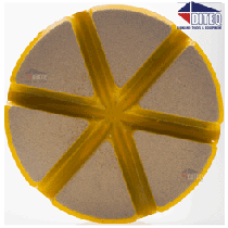 "3"" TEQ-Lok Transitional Ceramic 400 Grit-Yellow"