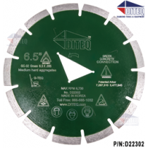 G-TEQ Green Concrete Blades Green