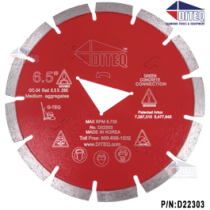 G-TEQ Green Concrete Blades Red