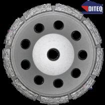 """CS33 7"""" Single Row Cup Wheels Threaded"""