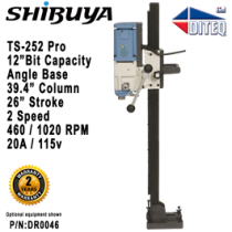 "Shibuya™ TS-252 PRO Angle Base, 39.4"" Column"