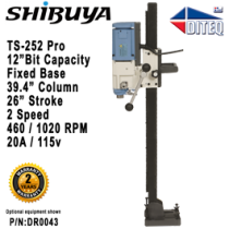 "Shibuya™ TS-252 PRO Fixed Base, 39.4"" Column"