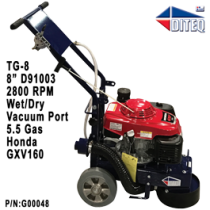DITEQ TG-8 5.5HP Honda Grinder With D91003 Plate
