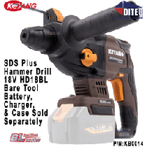 18V SDS-Plus Cordless Rotary Hammer Drill, Bare Tool