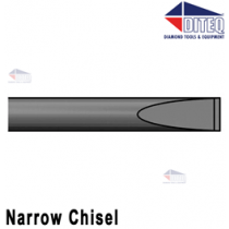 "Narrow Chisel 9"" .580"" Hex Shank Round Collar"