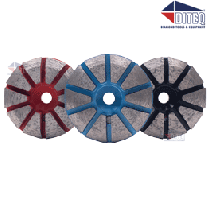 "3"" Pizza Seg Hard-Bond [50/60/80 Grit] with Magnetic Pin"