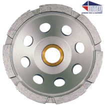 "CS33 4.5"" Single Row Cup Wheels 7/8-5/8"