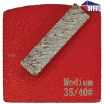 TEQ-Lok Single 18 Grit Rectangular Segments Medium Bond