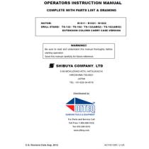 Shibuya TS-132 & TS-162 Manual & Parts List