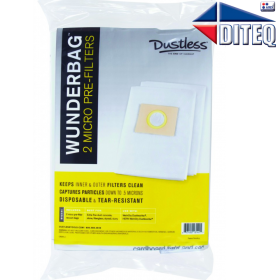 Dustless Technologies™ Micro pre-filter bags, 2-Pk, Wet/Dry [13144]
