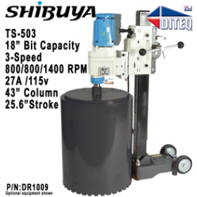 "Shibuya™ TS-503 Fixed Base, 43"" Column Core Drills"