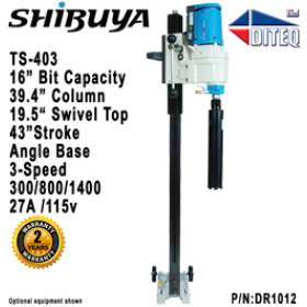 "Shibuya™ TS-403 Angle Base, 39.4"" Swivel Top, Core Drill"