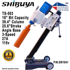 "Shibuya™ TS-503 Angle Base 43"" Column Core Drills"