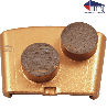Double Round segments | Wing | Med Bond | 33/40 Grit