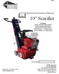 """10"""" Scarifier Manual"""