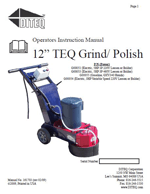 TG-12 parts list