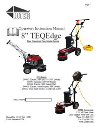 TG-8 Floor Grinder manual