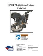 DITEQ TG-30 Floor Grinder Manual