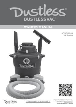 Dustless Wet/Dry Vacuums