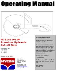 Hycon HCS 14/16/18 Manual