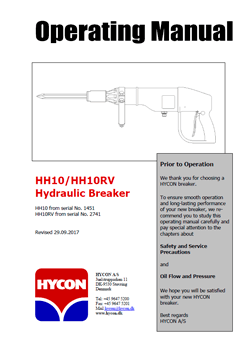Hycon HH10 Hand Held Breakers