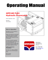 Hycon HPP18E Power pack