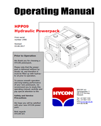 HPP9 Hycon Power Pack Manual