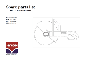 Hycon Hand Saw Parts List