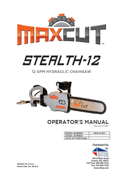 Maxcut chain saw manual