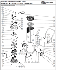 NDD 900 Vacuum Parts List