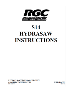 RGC S-14 Saw Manual