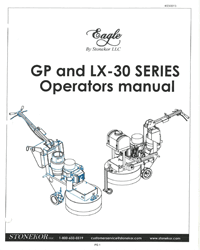 Stonekor GP & LX-30 Series Operators Manual